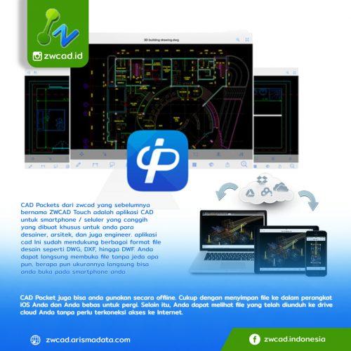 CAD Pockets aplikasi CAD canggih untuk desainer, arsitek, dan Engineer